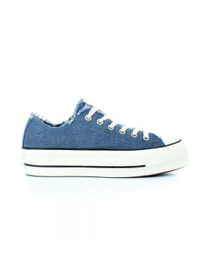 CONVERSE scarpe ctas ox clean lift denim frayed