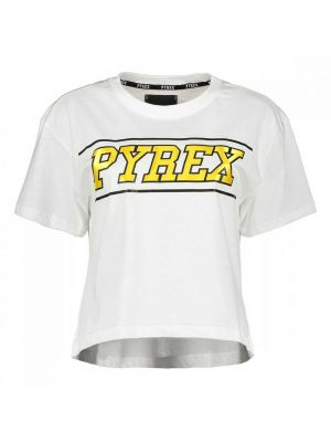 PYREX t-shirt crop scritta