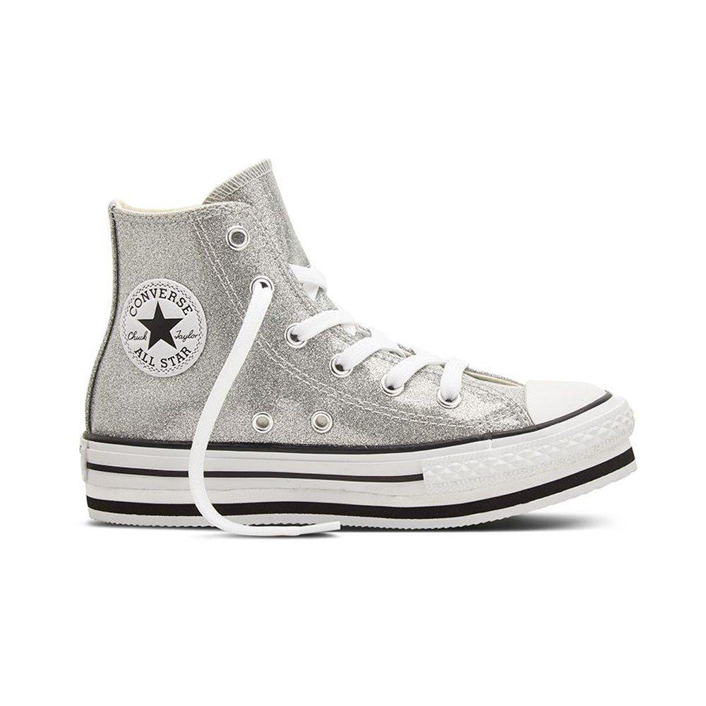 Converse Ctas Hi Platform Leather, Sneaker a Collo Alto