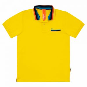 SUN68 polo stripes on collar
