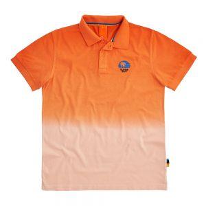 SUN68 polo hang dyed