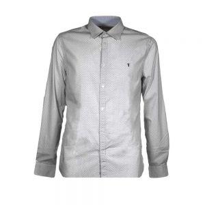 TRUSSARDI camicia popeline geometric