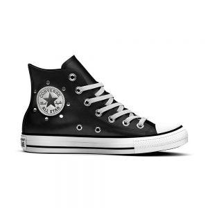 CONVERSE scarpe ctas leather studs hi