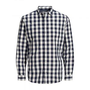 JACK JONES camicia plain check noos