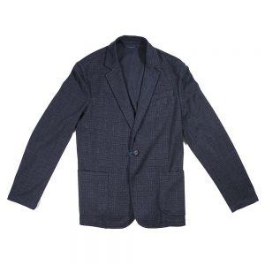 TRUSSARDI JEANS giacca slim check jersey