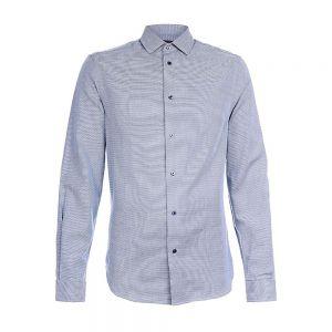 TRUSSARDI camicia textured vichy slim