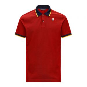 K-WAY polo vincent total contrast stretch
